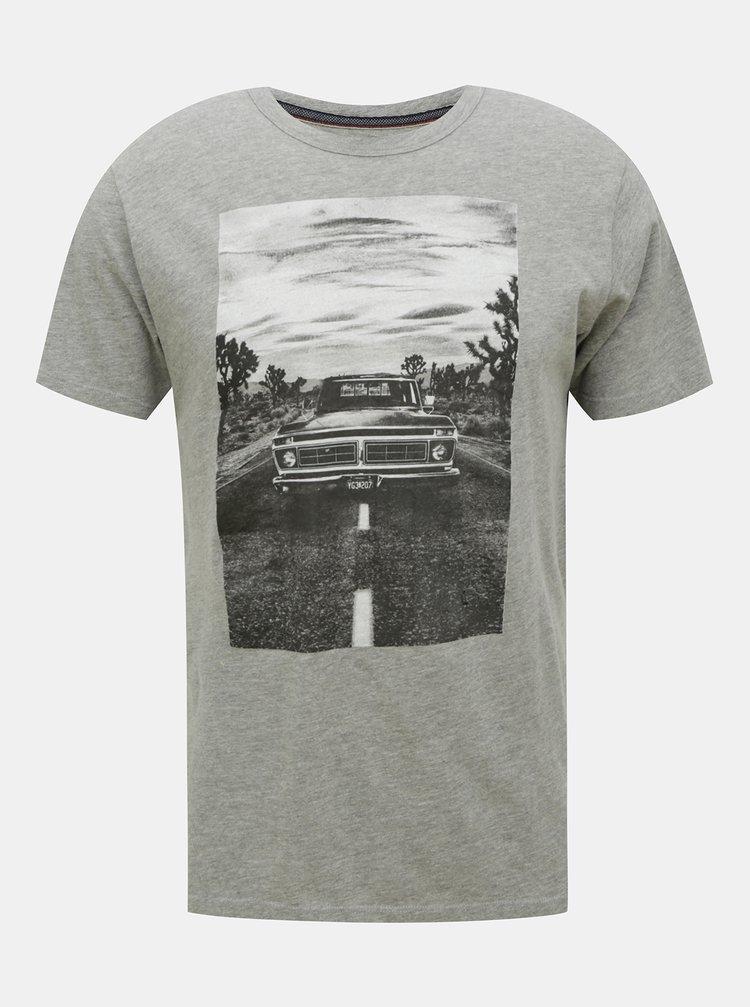 Šedé tričko s potiskem Jack & Jones Dawson