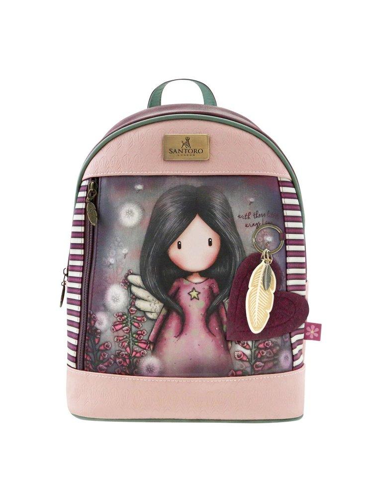 Santoro růžový batoh Gorjuss Little Wings
