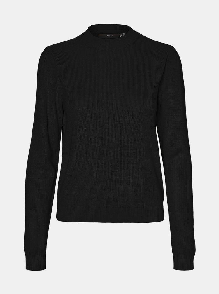 Černý lehký svetr se stojáčkem VERO MODA Galex