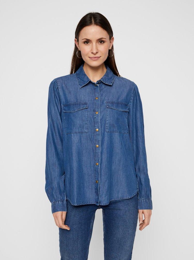 Camasi pentru femei Pieces - albastru