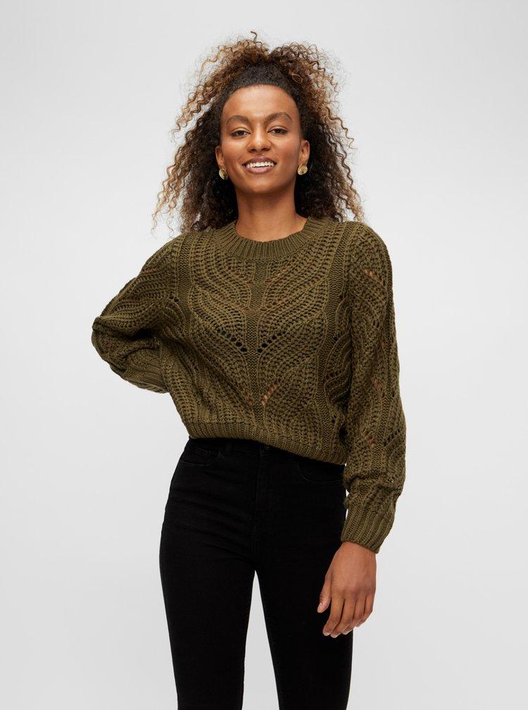 Khaki svetr Pieces Rachel