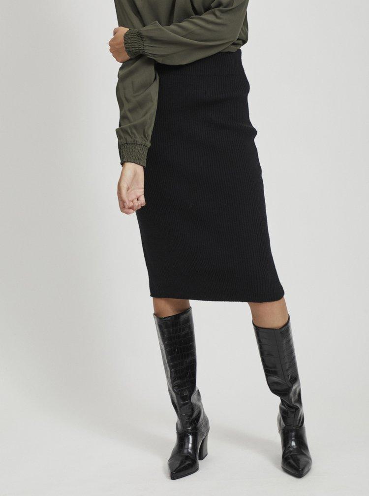 Černá pouzdrová sukně VILA Ril