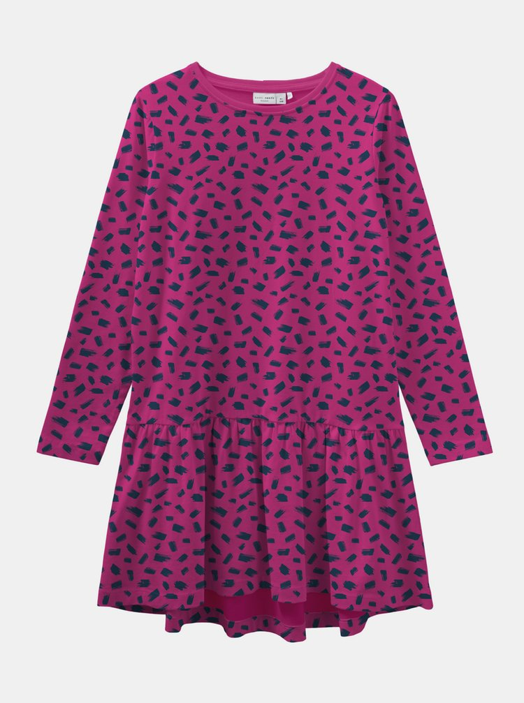 Růžové holčičí vzorované šaty name it Veta