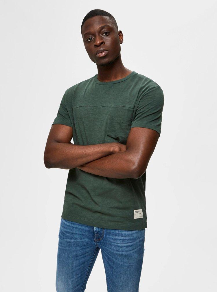Zelené tričko Selected Homme Ethan