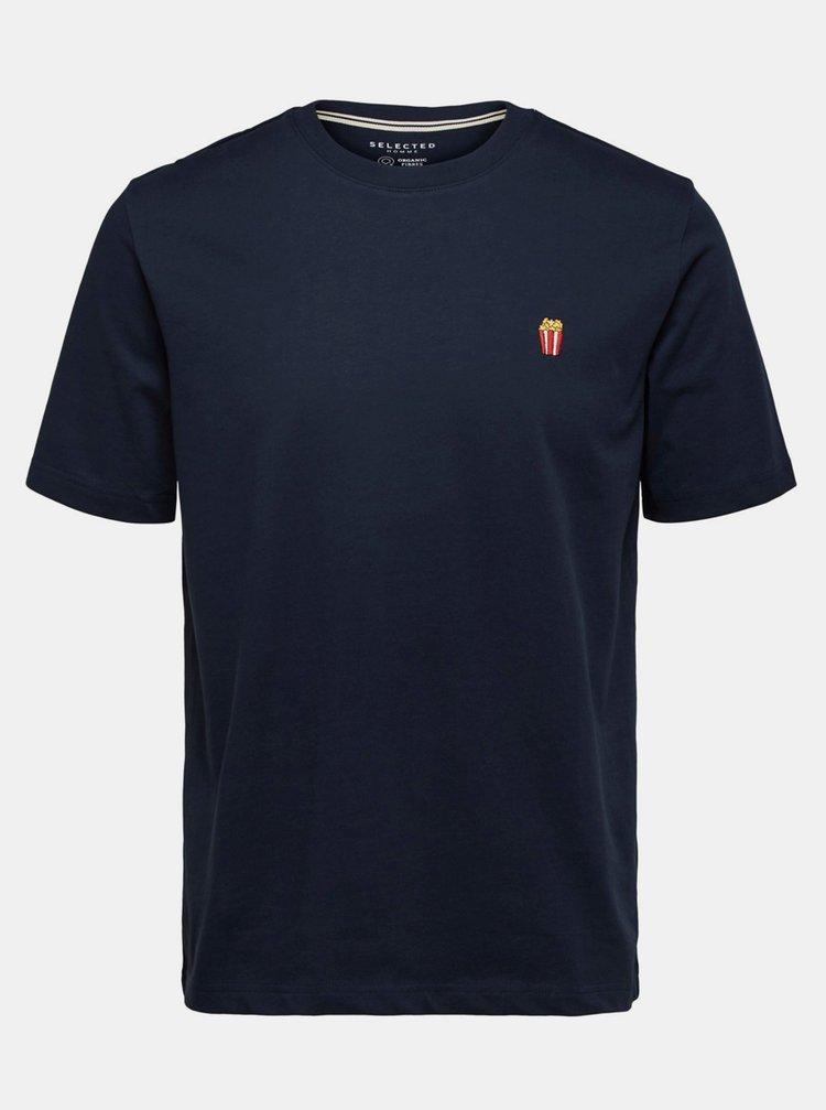 Tricouri pentru barbati Selected Homme - albastru inchis