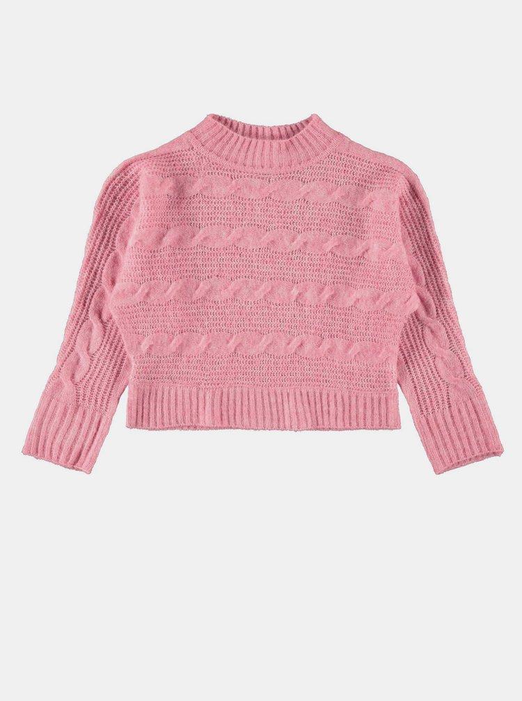 Růžový holčičí svetr name it Ottie