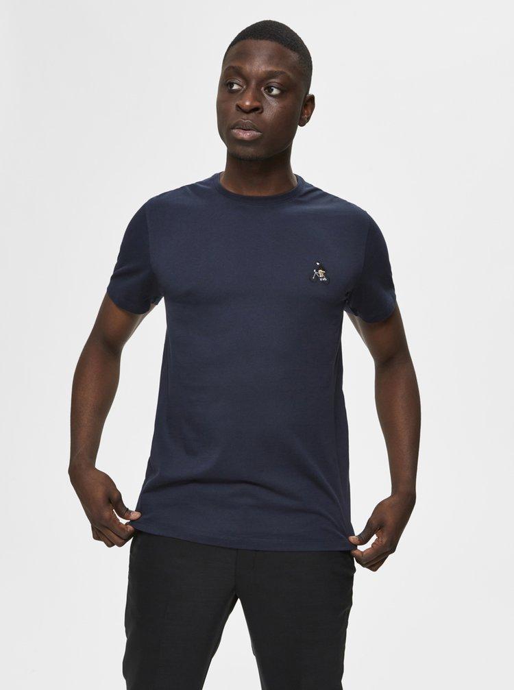 Tmavě modré tričko Selected Homme Cody