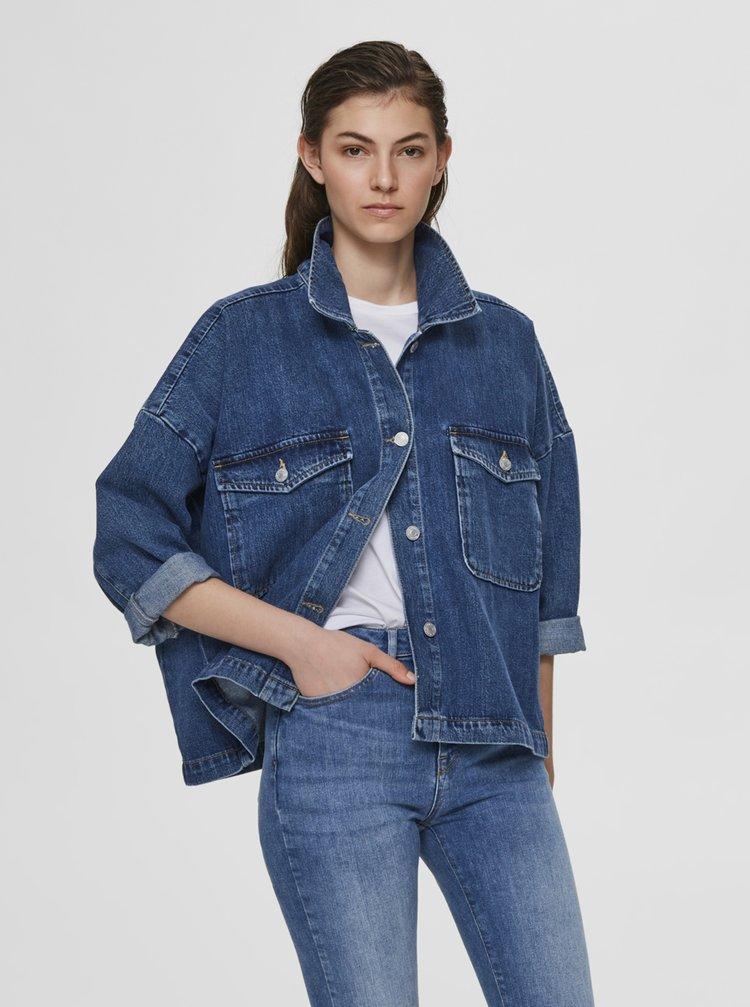 Jachete din denim pentru femei Selected Femme - albastru