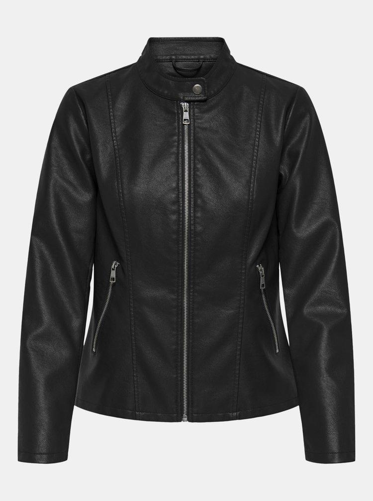 Jachete din piele naturala si sintetica pentru femei ONLY - negru