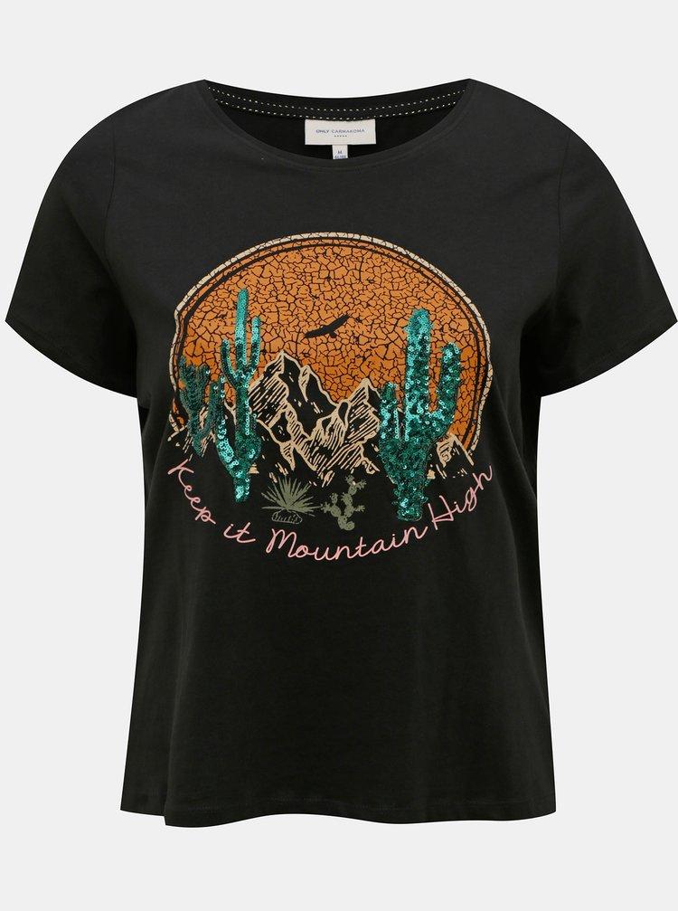 Černé tričko ONLY CARMAKOMA Vernon