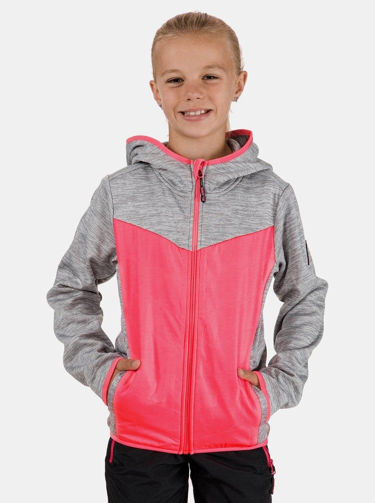 Šedo-růžová holčičí mikina SAM 73