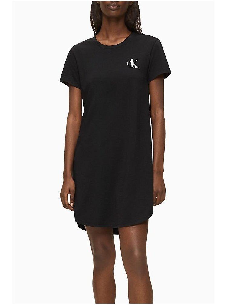 Calvin Klein černé domácí šaty S/S Nightdress