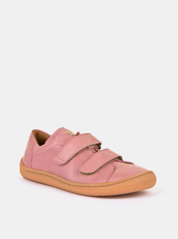 Růžové holčičí kožené boty Froddo