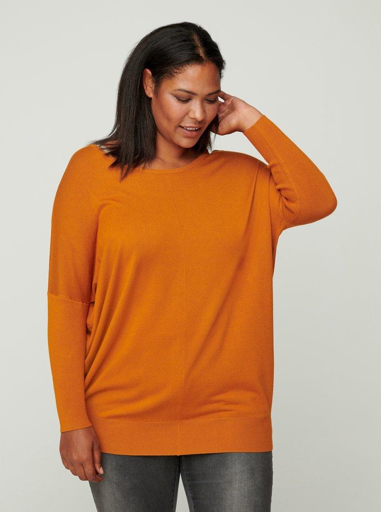 Oranžový lehký svetr Zizzi