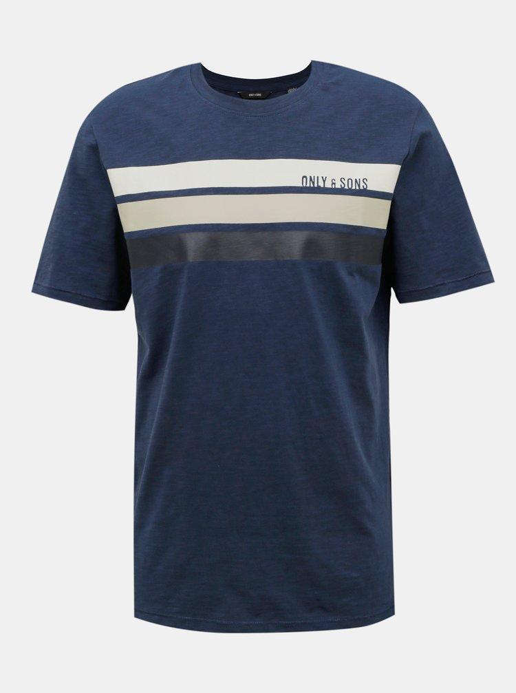 Tmavě modré tričko ONLY & SONS Manny