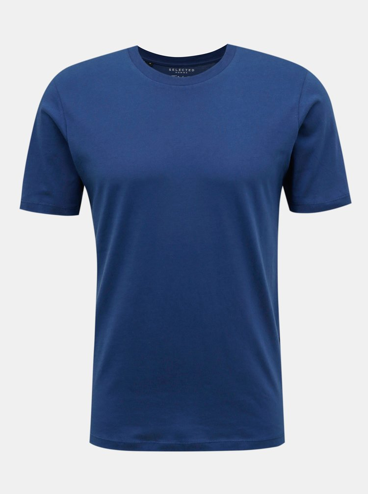 Modré basic tričko Selected Homme The Perfect