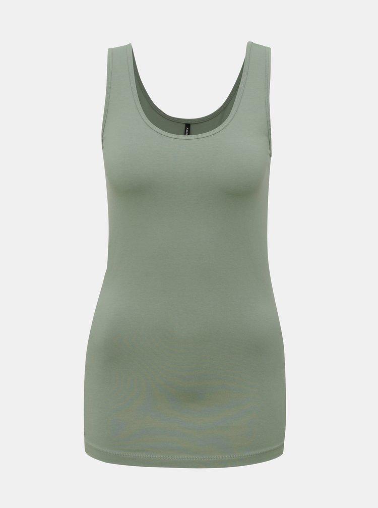Zelené basic tílko ONLY Olive