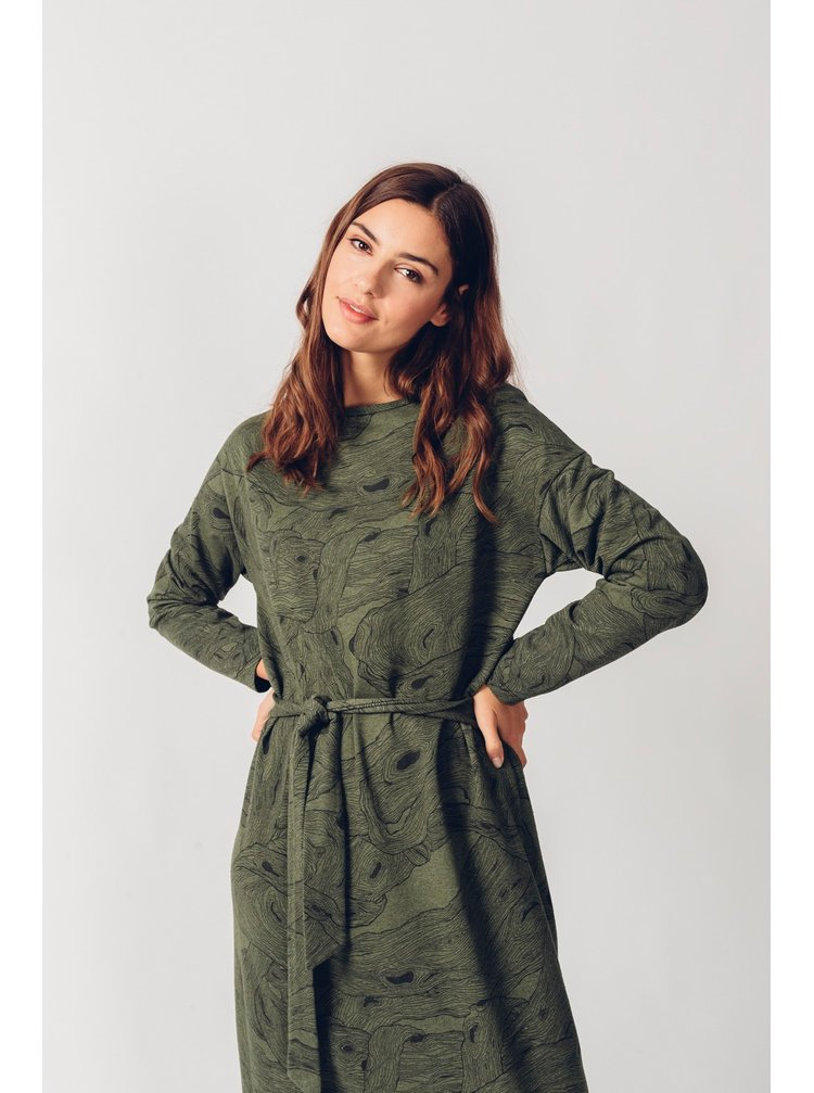 SKFK khaki mikinové šaty Kemena