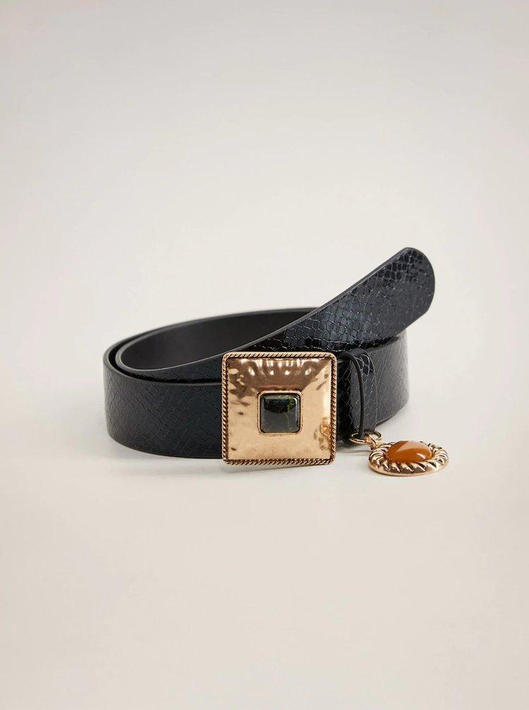 Černý pásek Mango Piedra