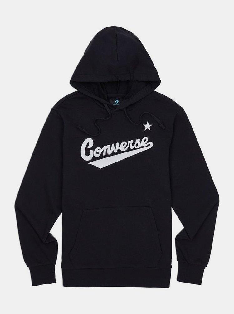 Černá pánská mikina s kapucí Converse