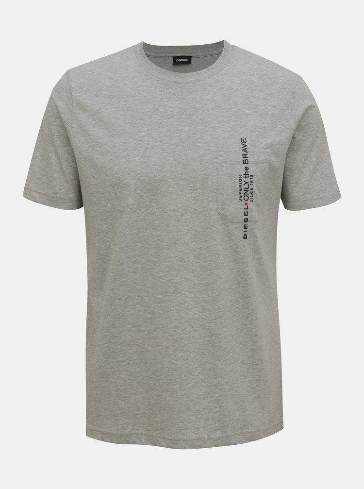 Šedé pánské tričko Diesel
