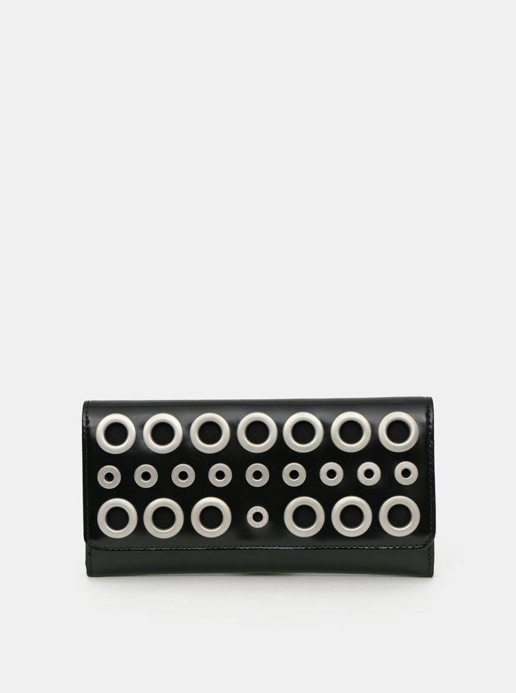 Černá dámská kožená peněženka Diesel