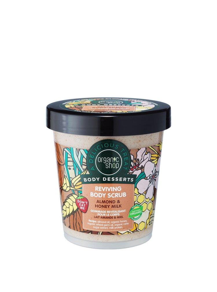 Organic Shop Body Desserts Vyživující tělová pěna Mandle a med 450 ml