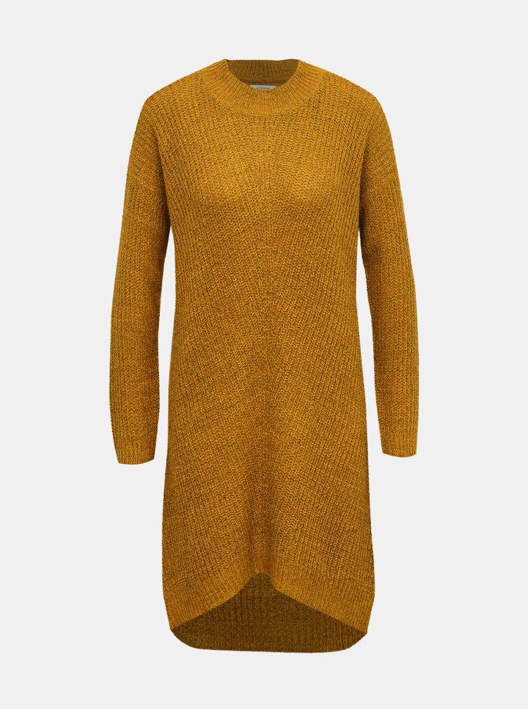 Hořčicové svetrové šaty Jacqueline de Yong Megan
