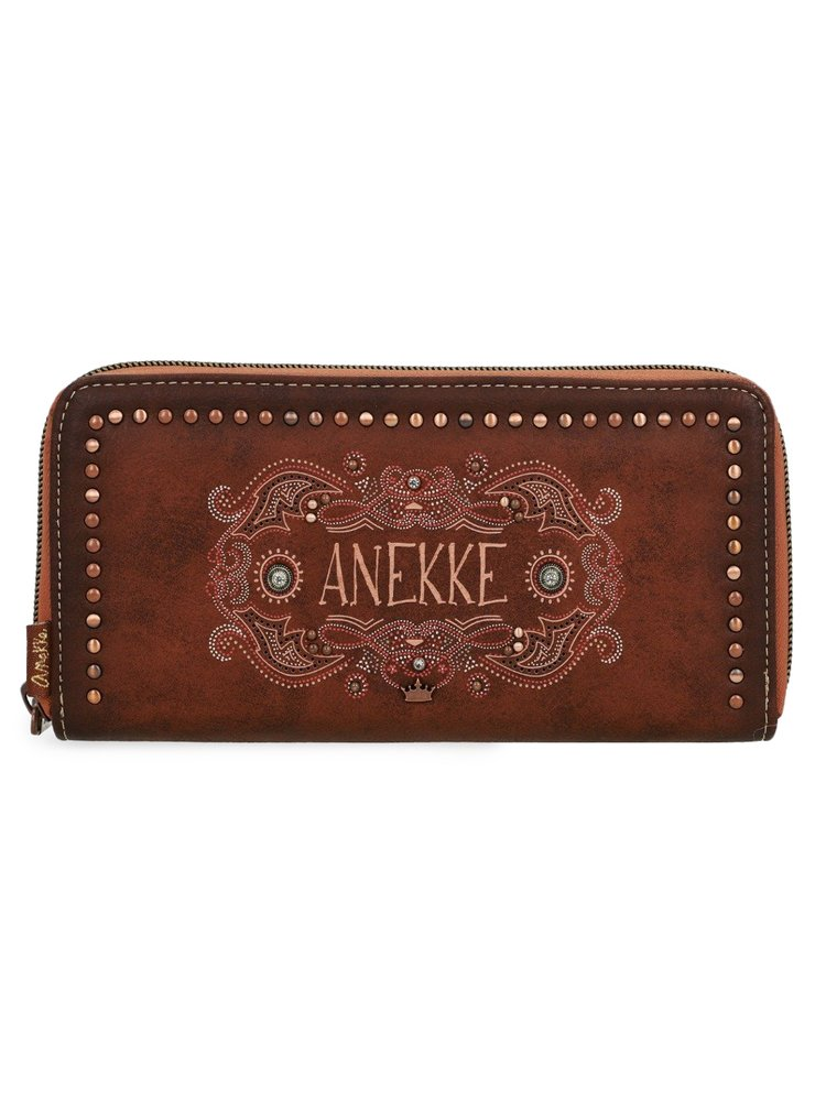 Anekke velká peněženka na zip Arizona s výšivkou