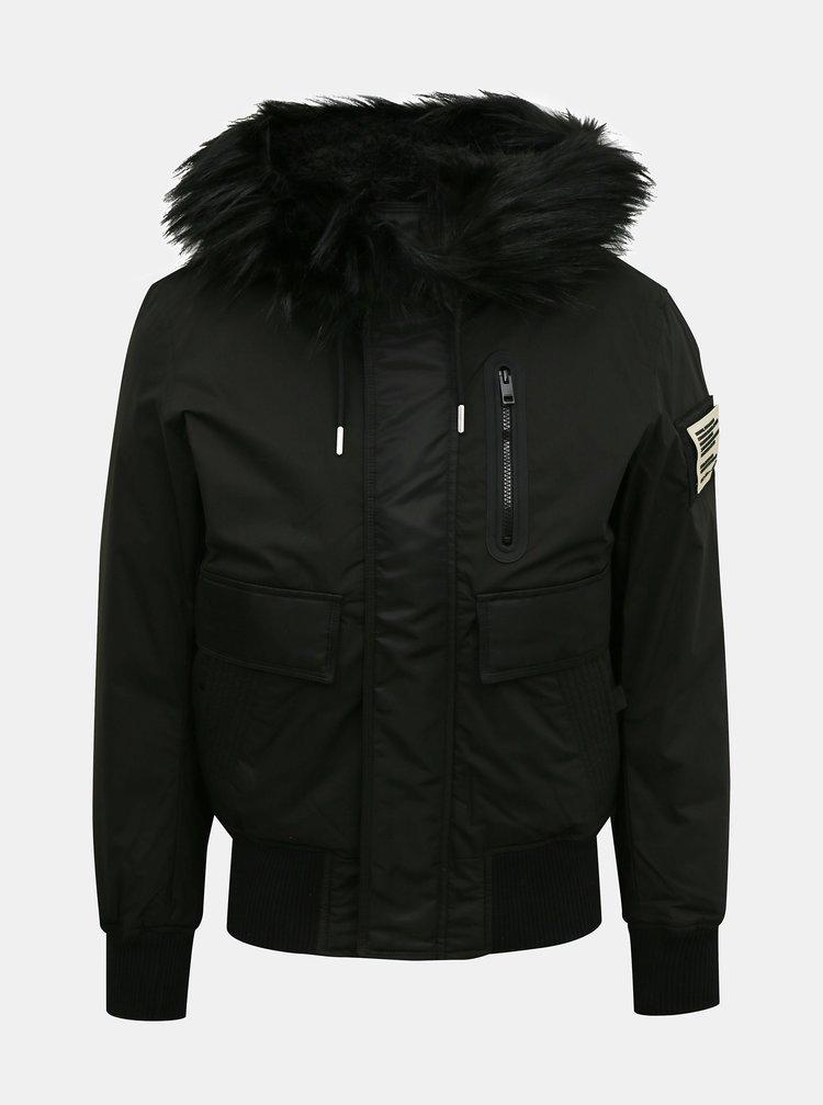 Jachete de iarna pentru barbati Diesel - negru