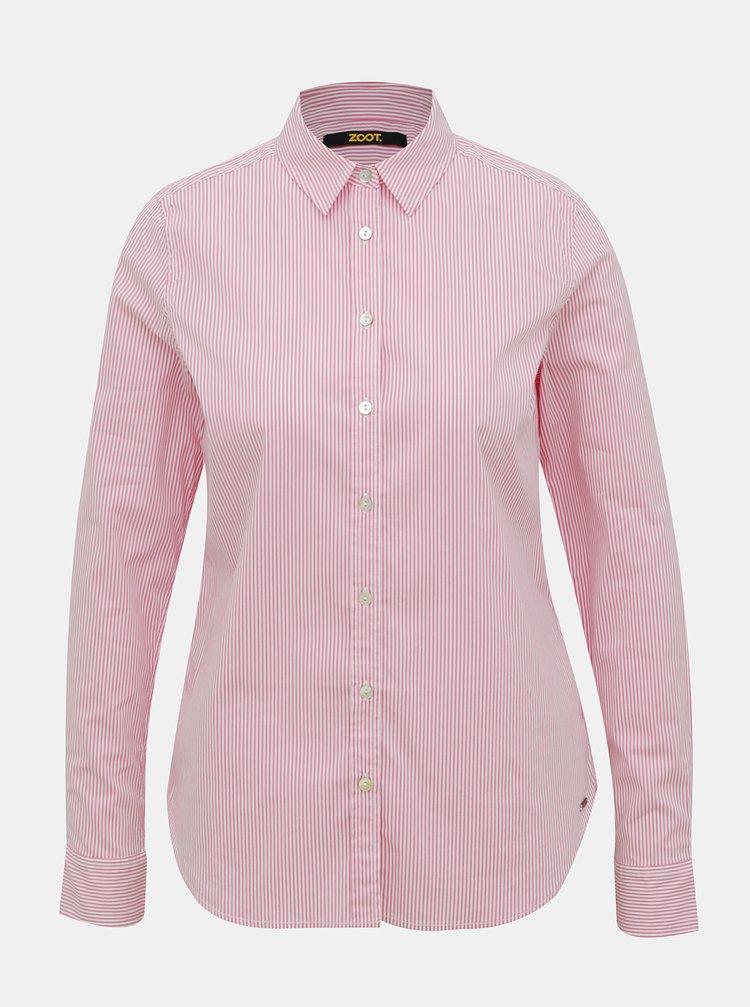 Růžová dámská pruhovaná košile ZOOT Baseline Chloe