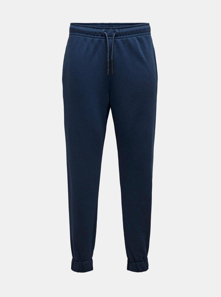 Pantaloni casual pentru barbati ONLY & SONS - albastru inchis
