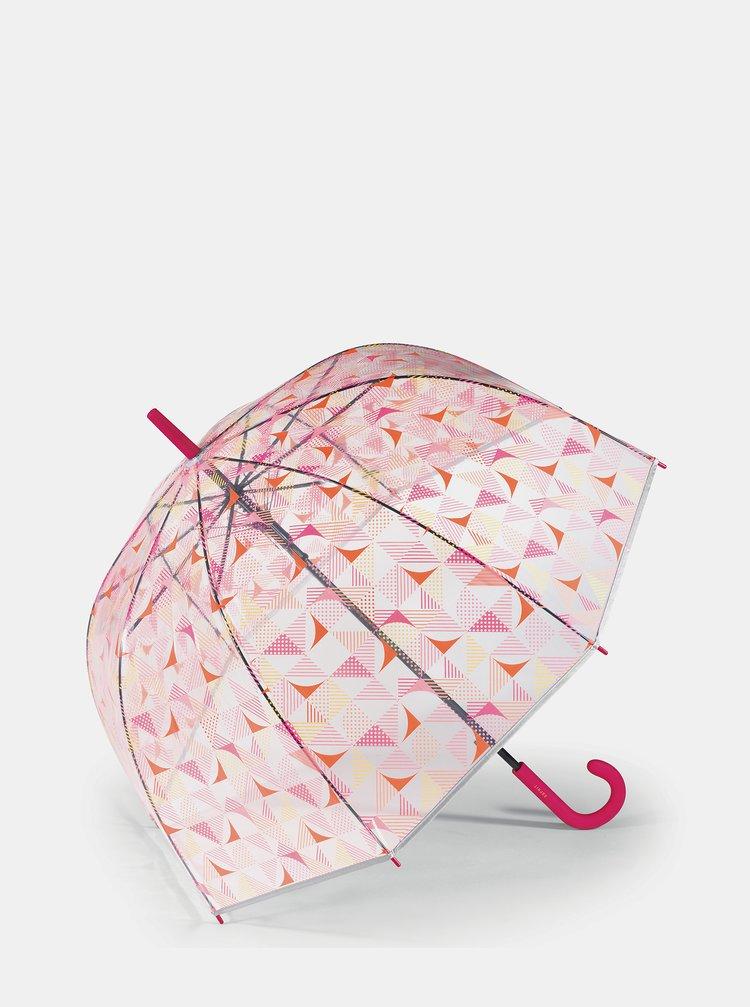 Transparentní dámský vzorovaný skládací deštník Esprit