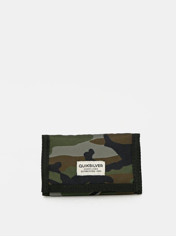 Khaki maskáčová peněženka Quiksilver