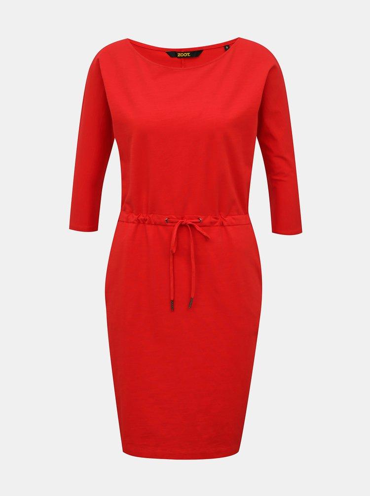 Červené basic šaty se zavazováním ZOOT Baseline Darina