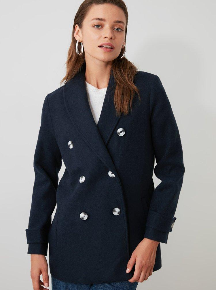 Paltoane  pentru femei Trendyol - albastru inchis