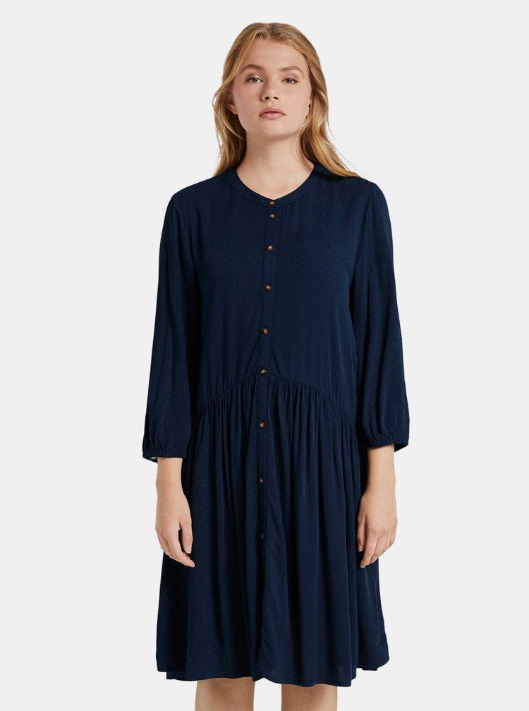 Tmavě modré dámské šaty Tom Tailor Denim