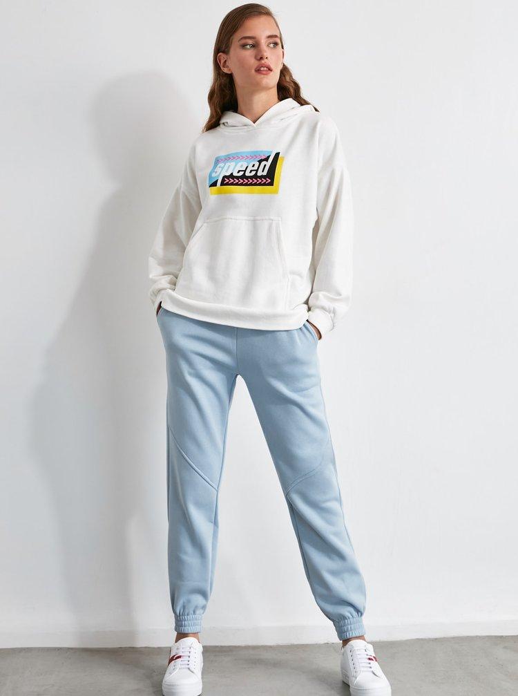 Pantaloni sport pentru femei Trendyol - albastru deschis