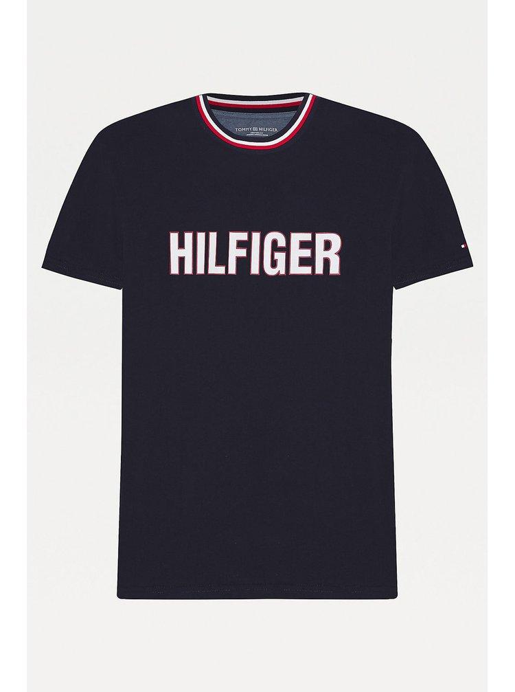 Tommy Hilfiger pánské tmavě modré tričko CN SS TEE logo