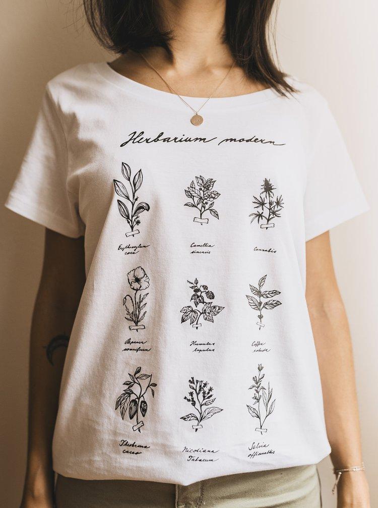 Bílé dámské tričko ZOOT Original Herbarium Modern