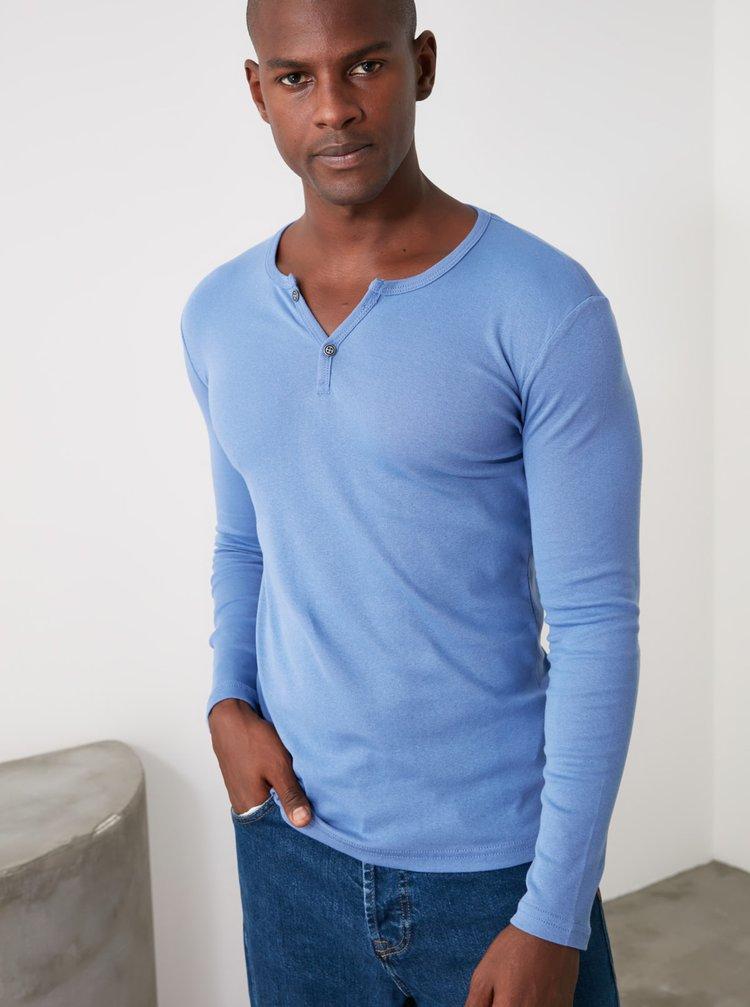 Modré pánské tričko Trendyol