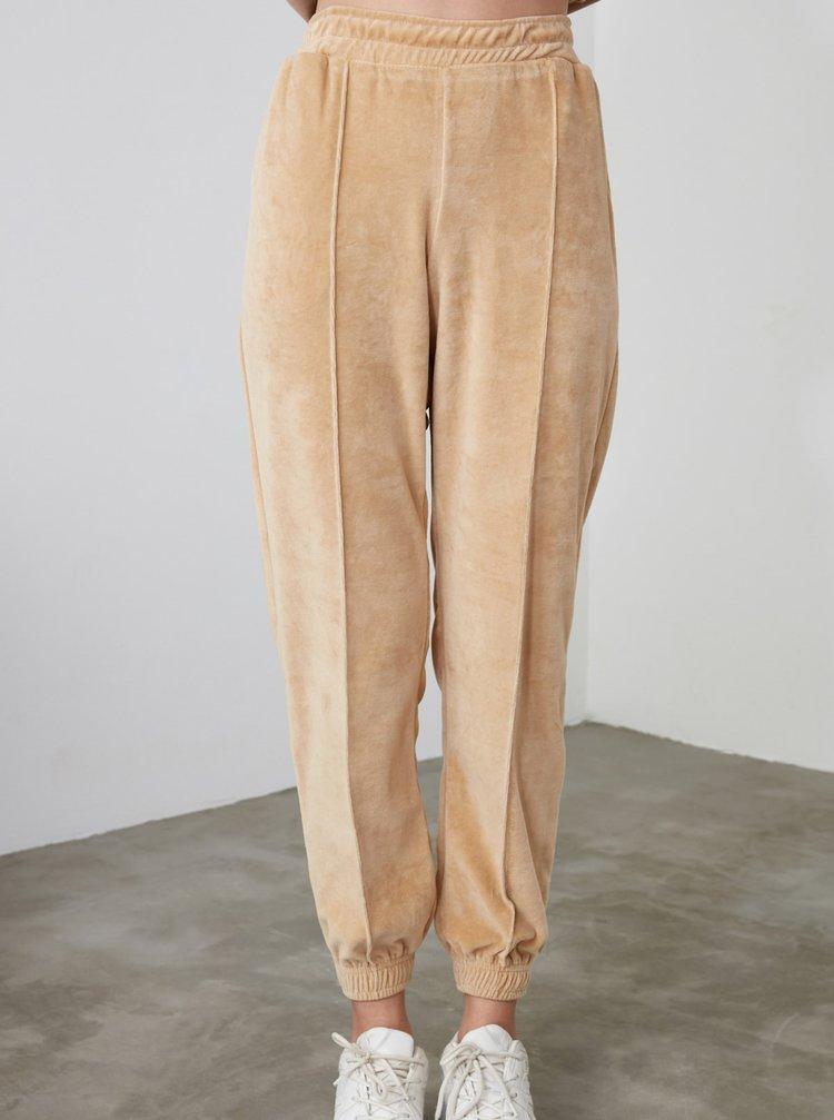 Pantaloni sport pentru femei Trendyol - bej