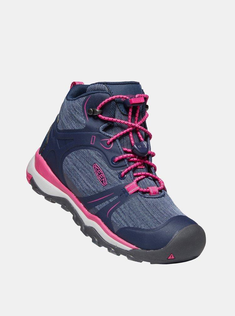 Modré holčičí kotníkové boty Keen
