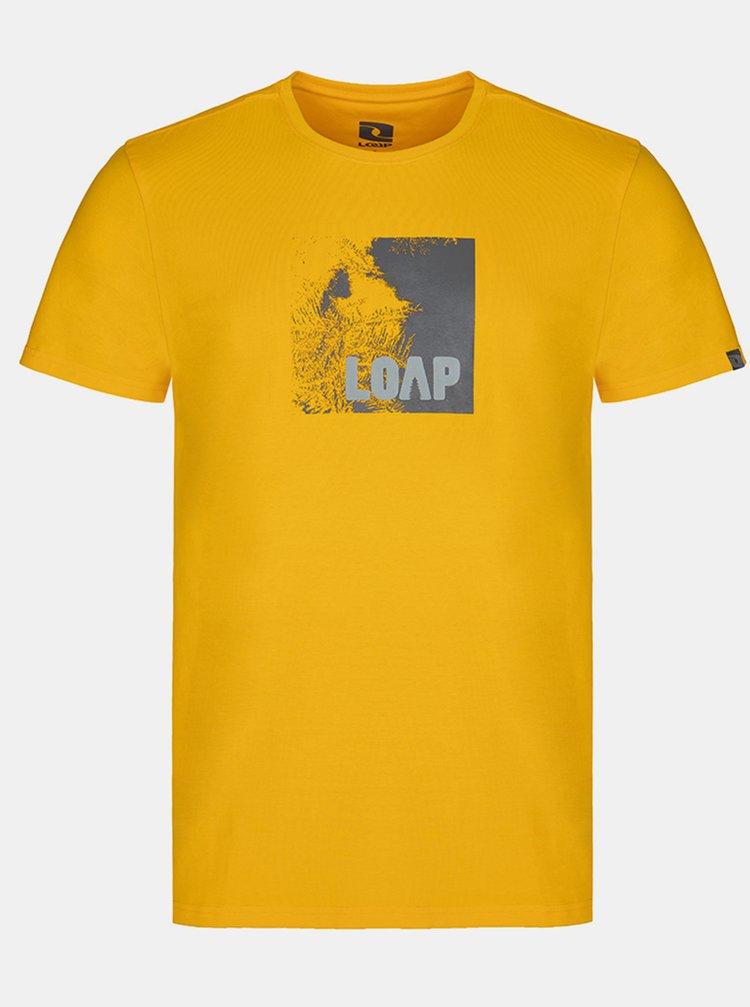 Žluté pánské tričko LOAP Alien
