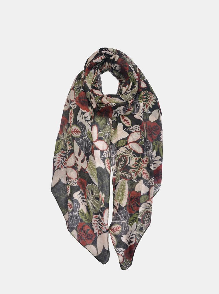 Černý dámský květovaný šátek Clayre & Eef