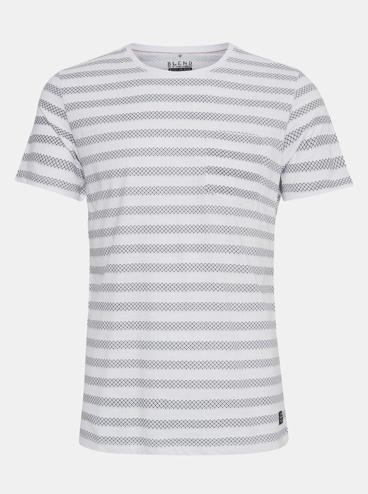 Modro-bílé pruhované tričko Blend