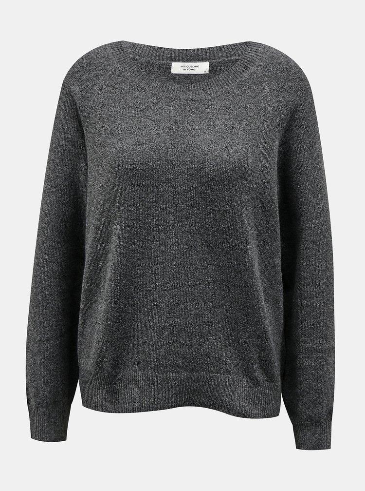 Tmavě šedý svetr Jacqueline de Yong