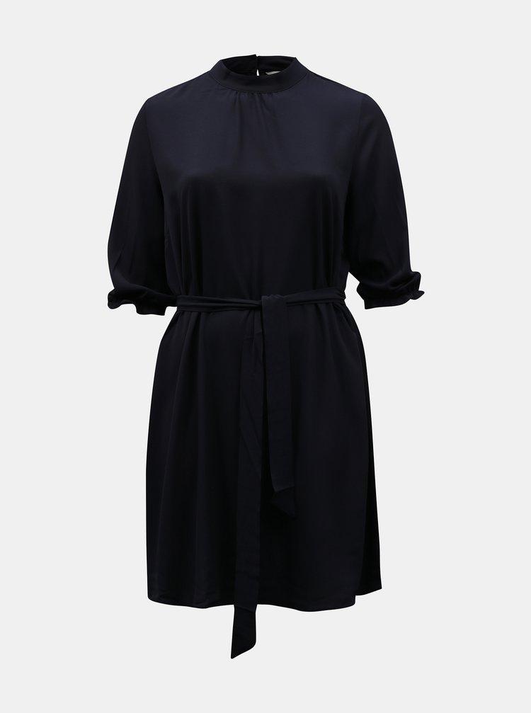 Tmavě modré šaty se zavazováním ONLY CARMAKOMA
