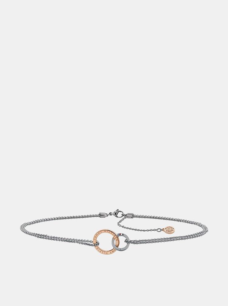 Dámský náhrdelník ve stříbrné barvě Tommy Hilfiger