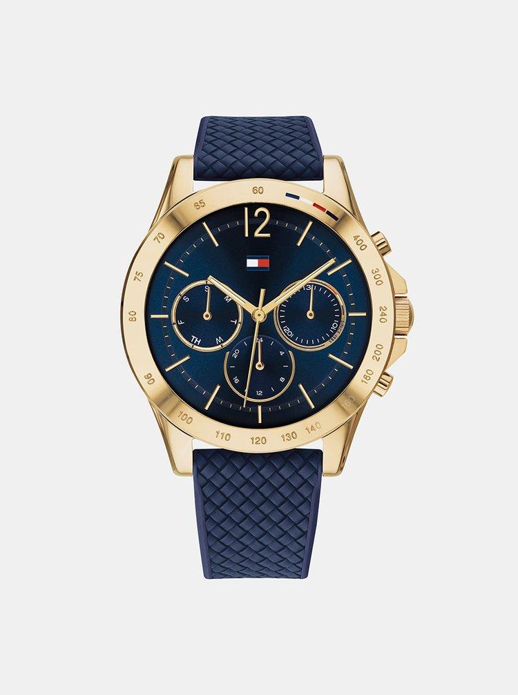 Dámské hodinky se silikonovým  páskem v modré barvě Tommy Hilfiger